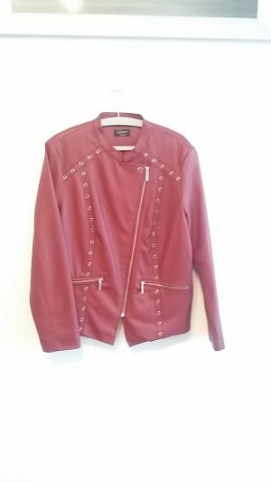 Yessica Faux Leather Jacket bordeaux