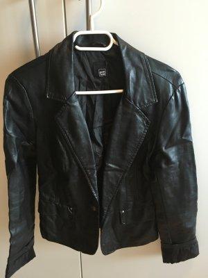 Lederjacke Kunstlederblazer jacke schwarz Blazer