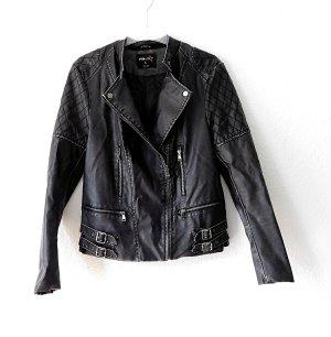 Amisu Faux Leather Jacket anthracite-black