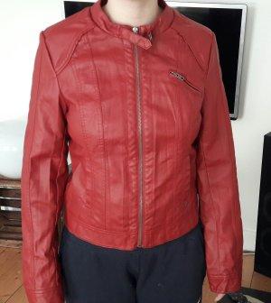 Lederjacke Kunstlederjacke Rost-Rot Only Größe M