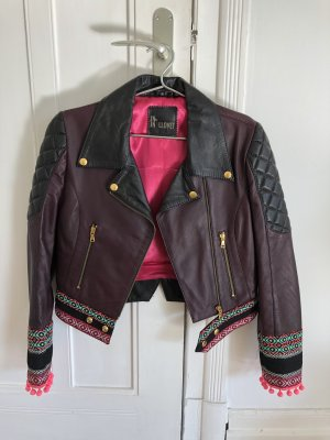 Leather Jacket blackberry-red