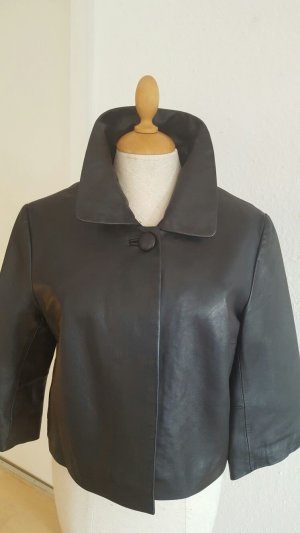 Lederjacke kurz schwarz Größe M