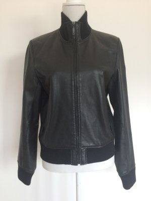Lederjacke Leder Jacke schwarz 90er Hallhuber Trend
