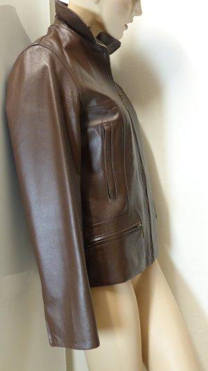 Chaqueta de cuero marrón Cuero