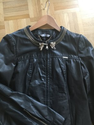 Liu jo Leather Jacket black