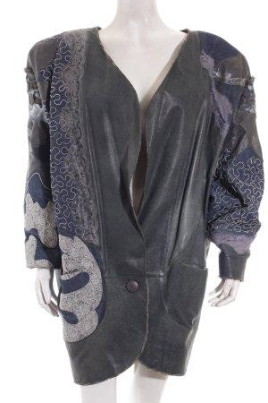 Lederjacke mehrfarbig extravaganter Stil