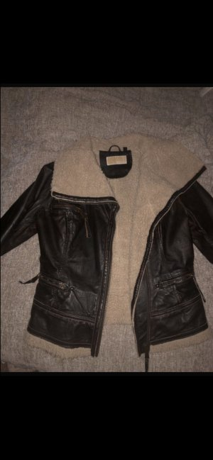 Michael Kors Leather Jacket dark brown