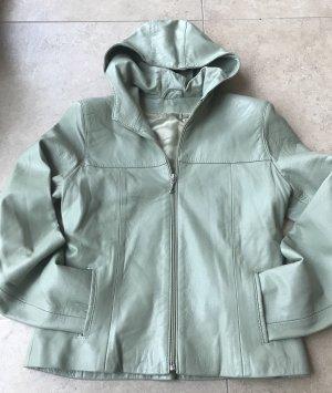 Leather Jacket sage green