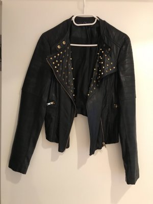 Ark & Co Leather Jacket black-gold-colored