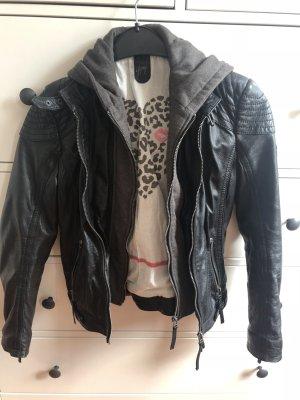 Gipsy Leather Jacket black-grey