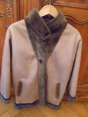 A-Z Pelt Jacket camel-grey brown leather