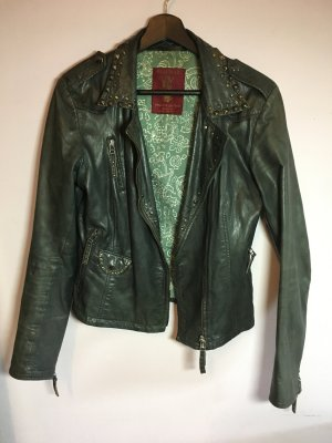 Blaumax Leather Jacket black-dark green leather
