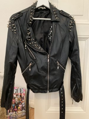 Glamorous Veste en cuir noir