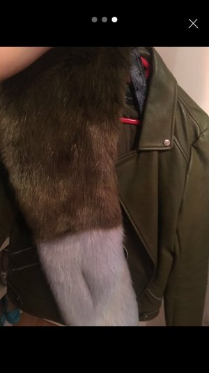 Lederjacke mit oder ohne Pelz
