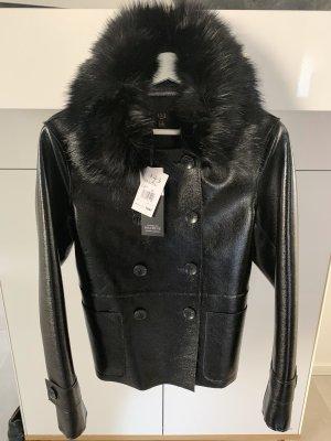 1.2.3 Paris Veste en cuir synthétique noir faux cuir