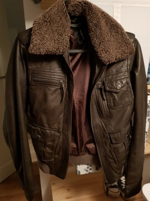 Aust Leather Jacket dark brown