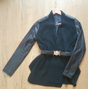 Amisu Leather Blazer black