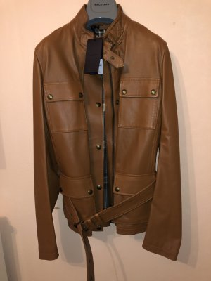 Belstaff Leather Jacket cognac-coloured-brown
