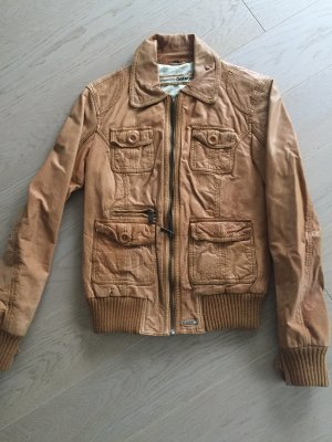 Lederjacke OAKWOOD in Cognac
