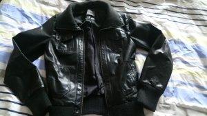 Lederjacke Only schwarz Größe S