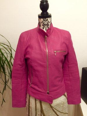 Lederjacke Pink\ Berry