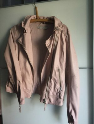 About You Leather Jacket light pink-pink
