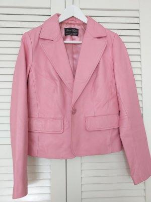 Lederjacke rosa Gr.34??? kein Ettiket vorh.
