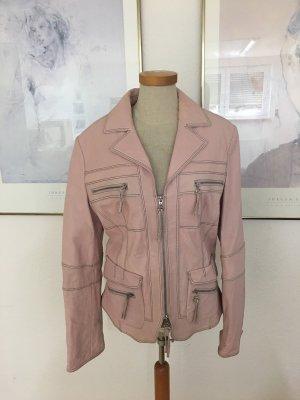 Lederjacke rosa Größe 40