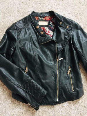 Biker Jacket dark green imitation leather