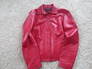 Lederjacke rot, Sisley, gut erhalten, selten getragen, Fr. 36