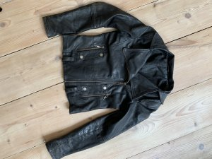 Zara Chaqueta de cuero negro