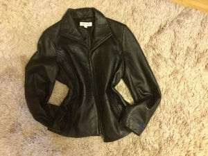 100 Leather Jacket black