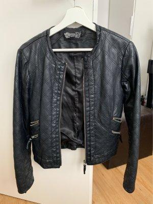 Veste en cuir noir