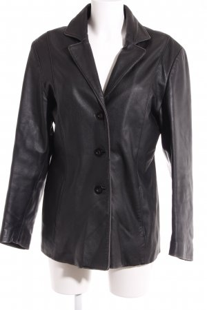 Lederjacke schwarz 90ies-Stil