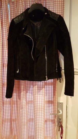 Lederjacke schwarz C&A