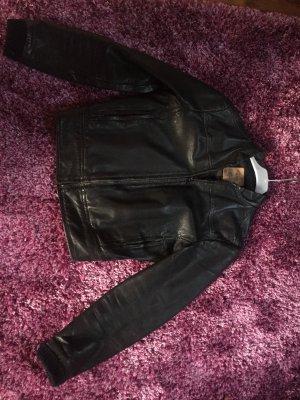 Lederjacke schwarz