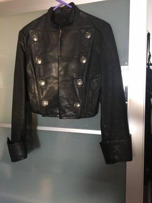 Lederjacke schwarz Gr.38 echt Leder neuwertig
