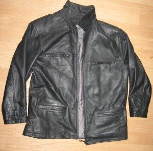 Lederjacke, schwarz, Gr. M