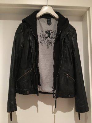 Lederjacke schwarz grau von Gipsy