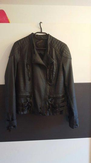 Lederjacke schwarz Größe L
