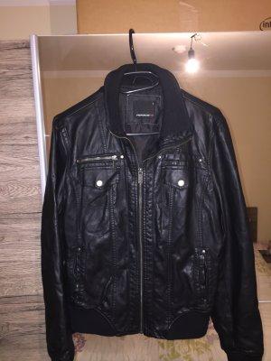 Lederjacke schwarz Größe M