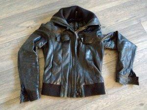Lederjacke schwarz Größe S
