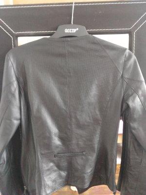 Lederjacke schwarz kurz