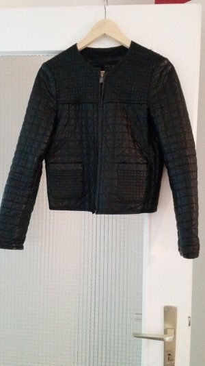 Lederjacke schwarz lamm cooles Muster