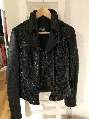 Lederjacke schwarz mit Pailletten von MAZE