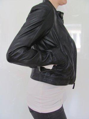 Lederjacke schwarz - neu