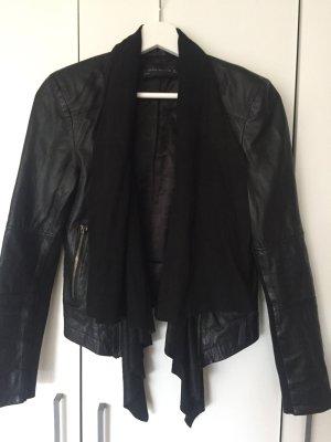 Lederjacke schwarz von Zara