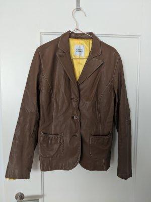 Steffen Schraut Leather Jacket brown