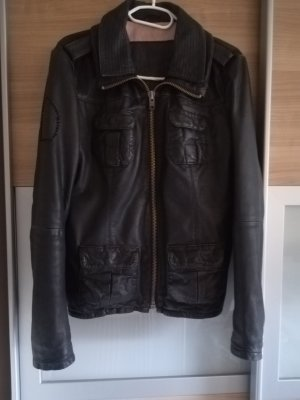 Superdry Leather Jacket black