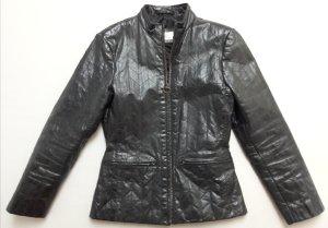 Lederjacke tailliert schwarz